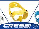 หน้ากากดำน้ำ สำหรับผู้ใหญ่ อุปกรณ์ดำน้ำ CRESSI PRO F1 SNORKELING MASK